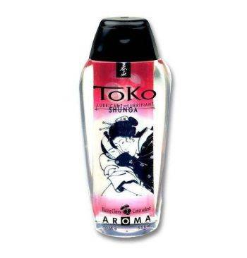 Lubricante base agua comestible cereza Shunga Toko 165ml