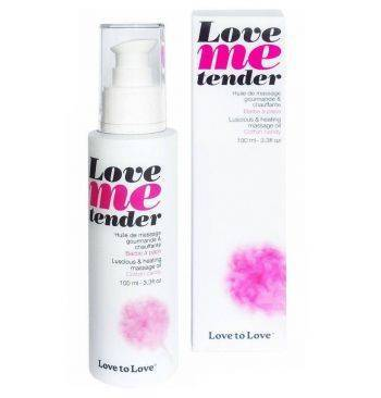 love to love me tender masaje efecto calor sabor a nubes algodon 100ml