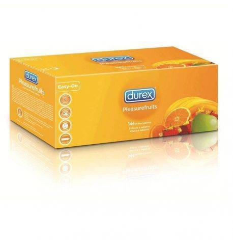 Preservativos Durex Pleasure Fruits pack 144uds